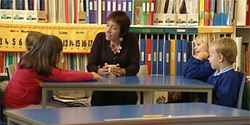 Anne teaching in a Primary school